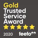 Feefo Gold Trust Service Award